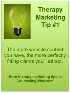 Attract Therapy Clients With Long Tail Search - Counseling Wise