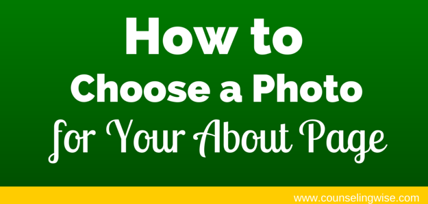 How to Choose a Photo for About Page